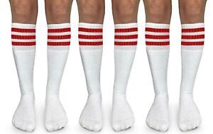 Jefferies Socks Womens Stripe Knee High Tall Vintage Tube Socks 3 Pair Pack