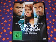 RUNNER RUNNER-DVD-Film-Justin Timberlake-BEN AFFLECK-Top-POKER-Action-Thriller