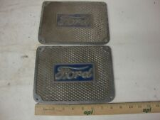 """1920s 1930s VINTAGE RARE FORD SCRIPT RUNNING BOARD STEP PLATES MODEL """"T"""" """"A"""""""