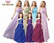 New 2018 Long Chiffon Formal Evening Prom Party Bridesmaid Dresses Lace back