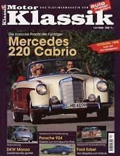 Motor Klassik 12/98 1998 DKW Monza 220S Cabrio Porsche 924 Stoewer D3 Ford Edsel