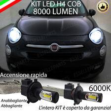 KIT FULL LED FIAT 500X LAMPADE LED H4 6000K BIANCO GHIACCIO NO ERROR 8000 LUMEN