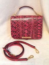 EMILIO PUCCI Pink Snakeskin NEWTON Handbag w/Original Shoulder Strap, MSRP $2490