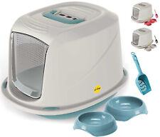 More details for cat hooded litter tray kitten bundle bowls toilet starter set kit loo catcentre®
