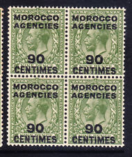 MOROCCO AGENCIES 1934 GV SG209 90c on 9d of GB block of 4 unmounted mint cat £88
