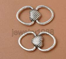 25pcs Tibetan Silver Charm Two-Sided Heart Connector Accessories 24X13mm F3377
