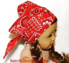 Bandana Red Paisley Print 18 in Doll Clothes Fits American Girl