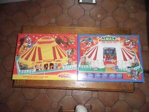 2 chapiteau Cirque Pinder Jean Richard et Amar  neuf en boîte avec accessoires