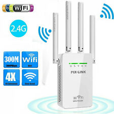 300Mbps WiFi Range Extender Repeater Wireless Amplifier Router Signal Booster US