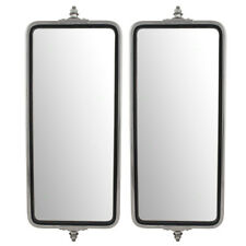 """Universal West Coast Truck Set of Stainless Steel Side Mirror Heads 7"""" x 16"""""""