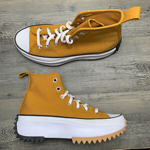 Converse Run Star Hike Hi Women's Size 9.5 / Men's Size 8 Yellow White 168893C