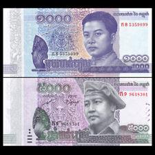 Cambodia Set 2 PCS, 1000 +5000 Riels, 2015-2017, P-NEW, COMM. New Design, UNC