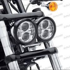 4.65'' CREE LED Headlight H/ LBeam For Harley Davidson Dyna Glide Fat Bob FXDF