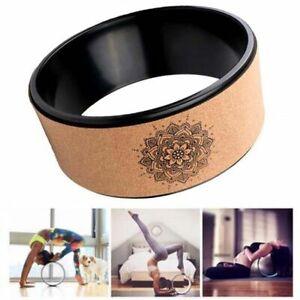 Yoga Wheel Back Training Natural Cork Ring Pilates Lotus TPE Yoga Circles Gym