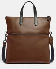 NWT Coach F50712 Mens Graham leather Foldover Tote  MRSP$550
