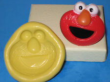 Elmo Silicone Push Mold Food Safe Silicone A429 Cake Topper Chocolate Resin Clay