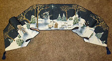 Do You See What I See ~ Snowmen/Rabbit/Lamb Christmas Tapestry Table Runner