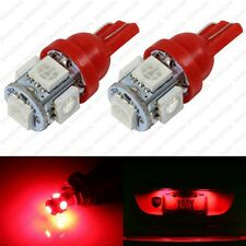 2 x Red LED License Plate Light Bulbs 168 194 2825 T10 W5W For Nissan