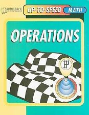 NEW Operations- Up-to-Speed Math by Andrew M. Schorr