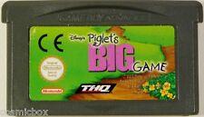 PIGLET'S BIG GAME Porcinet Winnie jeu Game Boy Advance compatible Nintendo DS