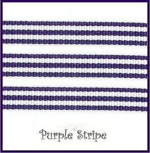 """5 Yards 3/8"""" & 7/8"""" STRIPE GROSGRAIN RIBBON VARIETY OF COLORS YOU PICK COLOR"""