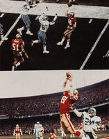 San Francisco 49ers JOE MONTANA DWIGHT CLARK Glossy 11x14 Photo The Catch Print