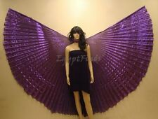 Egyptian Petite Kids Belly Dance Purple Lame Isis Wings + Bag&Sticks From Egypt