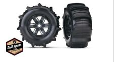 Traxxas 7773 X-Maxx 8S Sand Paddle Tires & Wheels Assembled & Glued - Black