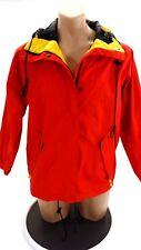 Eddie Bauer Hombre Rojo Nailon Cazadora con Capucha TALLA S