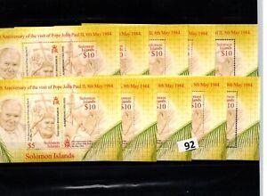 // 10X SOLOMON ISLANDS - MNH - FAMOUS PEOPLE - POPE - JOHN PAUL II