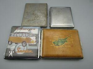 x4 Four cigarette cases VW samba uk united kingdom cyprus + one other