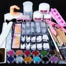 Professional Nail Art Acrylic Powder Liquid Primer Tips Practice Tool Full Kit V