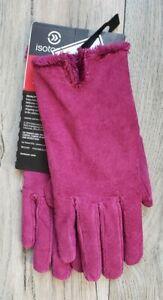 NWT NEW Womens ISOTONER Pink Magenta SuedeGloves Size Medium