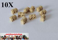 10X Lego® 11211 Konverter Stein 1X2 Beige / Sandfarben m. seitliche Noppen, NEU