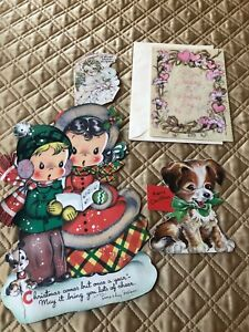 Four Vintage Greeting Cards