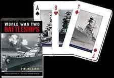 World War 2 Battleships set of 52 playing cards (gib)