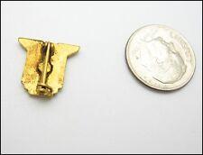 "A.S. Small LAPEL PIN EAGLE BOOK FIre Urn Goldtone Metal White Enamel 1/2"""