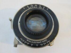"Wollensak USA BETAX No. 3 Shutter Ilex Anastigmat Paragon 5 1/2"" f4.5 Lens"