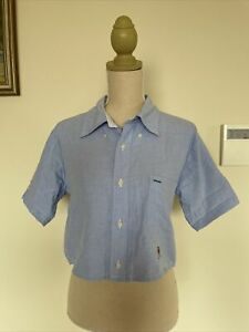 Tommy Hilfiger Cropped classic Shirt Blouse Top Size small/ AUS 8