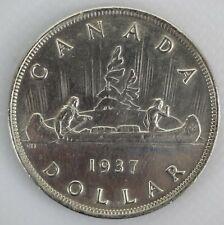CANADA 1937 KING GEORGE VI .800 SILVER VOYAGEUR AU ONE DOLLAR COIN - B