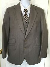 The Alexandre Collection Men's Sport Coat & Vest 38R Gray with Stripes Career R
