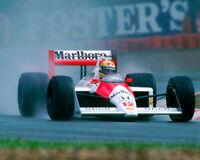 Ayrton Senna Formula One F1 McLaren Marlboro 1988 Racing Car Photo
