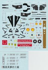 1/43 Tameo decal for Ferrari F2007 Australian GP suitable for die cast or BBR