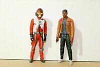 "Star Wars FINN (Jakku) + XWING PILOT 12"" Action Figure / Toy Hasbro 2015"