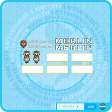 Merlin Racing Cycles (UK) Bicycle Decals Transfers Stickers - Set 1