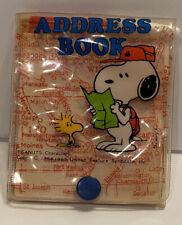 Vtg Snoopy Woodstock Address Book Scout Map Peanuts Mini Pencil Sanrio Japan