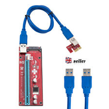6 PCS USB 3.0 Pcie PCI-E Express 1x To 16x Extender Riser Card Adapter BTC Cable