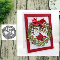 Wreath Bird Metal Cutting Dies Scrapbooking Paper Cards Photo Craft Stencil New
