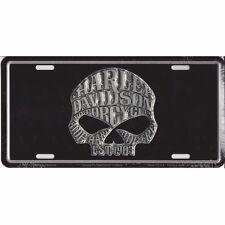 Official Harley Davidson Willie G. Skull License Plate Sign Tag Black Background