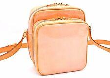 Auth Louis Vuitton Vernis Wooster Shoulder Bag Orange LV A1937